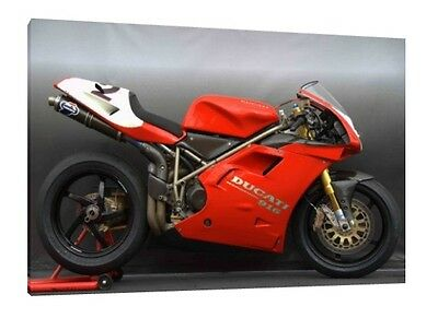 Ducati 916 - 30x20 Inch Canvas Framed Picture Print Poster Art Superbike