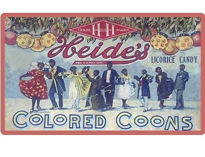 Heide's Colored Coons Candy Licorice Black Americana NEW! Refrigerator Magnet