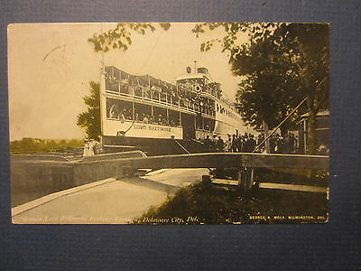 Old Vintage 1907 Steamer - LORD BALTIMORE - Steamship POSTCARD - Delaware City