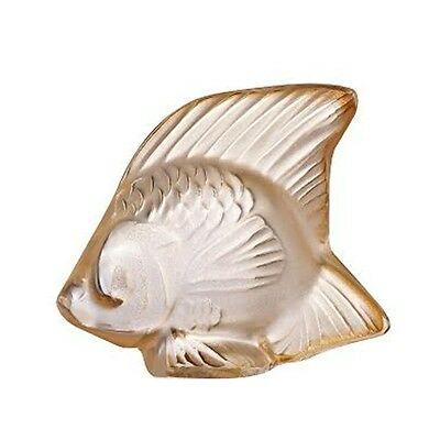 Lalique Gold Luster Crystal Fish Brand New In Box #10543400 Shinny Save$$ F/sh