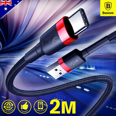 2M USB-C Type C Cable Fast Charge For Samsung S10 Plus S9 Note 10 9 5G Data Sync