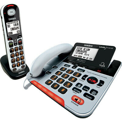 UNIDEN SSE37+1 Visual Hearing Impaired Corded And Cordless Digital Phone System