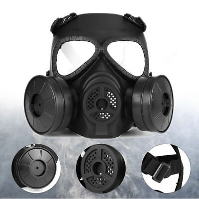 CS Edition Gas Mask Double Filter Fan Perspiration Dust Face Guard Breathable