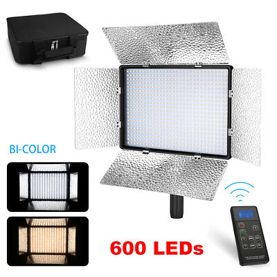 Powerextra 600 LED 60W Bi-Color Dimmable 3200K-5600K CRI 96+ Video Light Panel