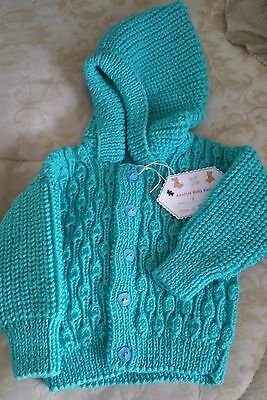 Toddler Hoodie - Size 1 - Pure Wool