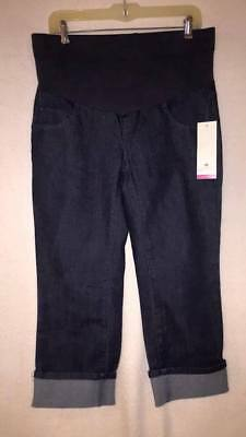 Maternity Jeans Capris cropped pant M NWT Two Hearts by Destination Maternity