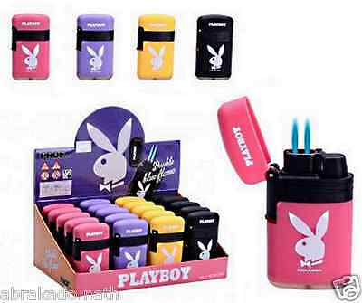 1 Briquet Tempete Playboy Rechargeable Double Flamme 7 X 4 Cm Pastel