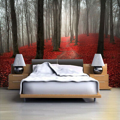 3D Forest Sunshine Autumn Photo Wallpaper Wall Mural Giant Decor Morning Maple