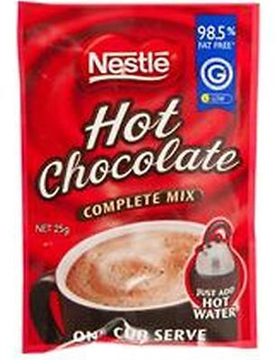 Nestle Hot Chocolate Drink Portion Control Instant Mix 25gram Sachets Pack of 20