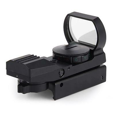 Black Tactical 20mm Rail Holographic Red Green Laser Dot Sight Scope Reflex  PE