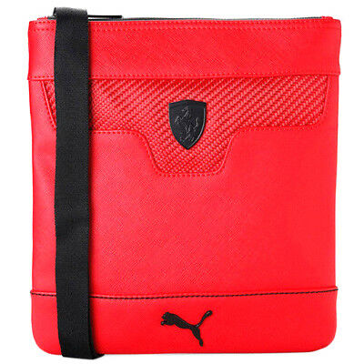 9ad4352aff Puma Ferrari LS Portable Tablet Bag Red Leather Unisex 074207 02 UW13