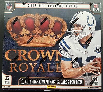 Panini Crown Royale Football NFL Box 2013 2 Hits Auto or Memorabilia per Box