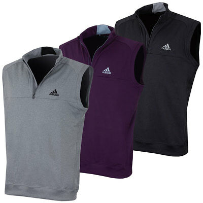 Adidas Golf 2017 Mens Club 1/4 Zip Soft Stretch Crested Sweater Vest