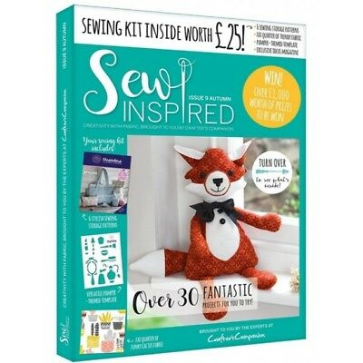 Crafters Companion Sew Inspired Magazine Issue 9 With Free Sewing Kit Worth £25