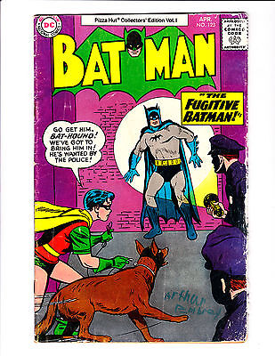 Batman  No.123    : 1977 :     : Pizza Hut Giveaway!! :