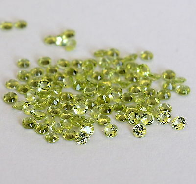 5 PIECES OF 2mm ROUND-FACET STRONG-GREEN NATURAL AFGHAN PERIDOT GEMSTONES