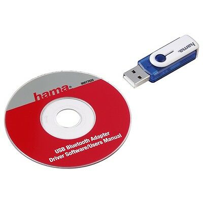 Hama Bluetooth USB Adapter V2.0, Klasse 2, bis 10 m, Blau 77026