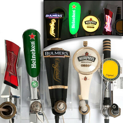 5 IRISH PUB Beer Taps Pulls Pumps LED Illuminated Inc Transformer Murphy's Stout