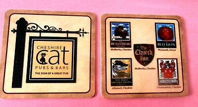 Cheshire Cat Pubs & Bars - Coaster / Beer Mat from England