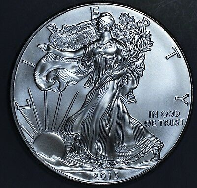 2013 1 oz AMERICAN SILVER EAGLE BRILLIANT UNCIRCULATED ASE  SKU2013B