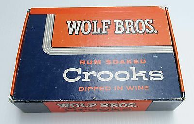 Wolf Bros. Rum Soaked Crooks Dipped in Wine Cigar Box  6 cents