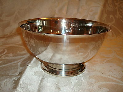 "Towle Large Silver Paul Revere Style Bowl 8 1/2"" Has Original Label"