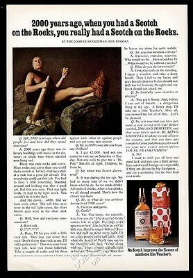 1974 Mel Brooks photo and text Teacher's Scotch whisky vintage print ad