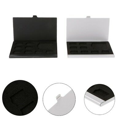 Monolayer Aluminum Alloy SD/SIM Card Holder Protector Storage Box Case
