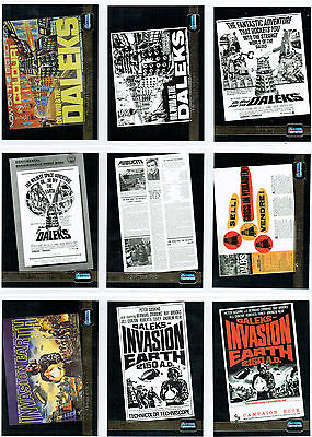 Doctor Who Big Screen Set Of 12 Foil Cards