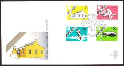 Aruba 1-16,FDC. 1986-1987.Traditional House,King William III Tower,Crane,Snake,