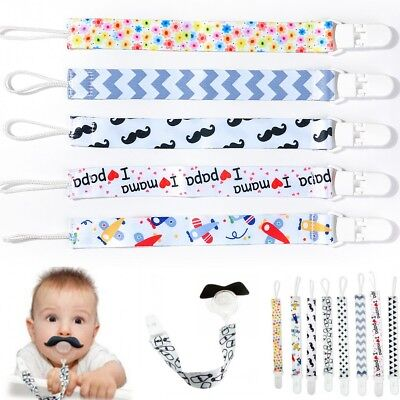 Baby Care Pacifiers Nipples Clip Chain Infant Child Cuddly Plush Soother Chain