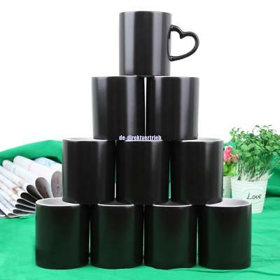 36Pcs Sublimation Black Colour Changing Mugs 11oz Coated Magic Cup Heat Transfer