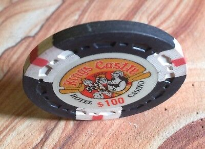 Vintage Kings Castle Casino $100 Poker Chip From Incline, Nevada!