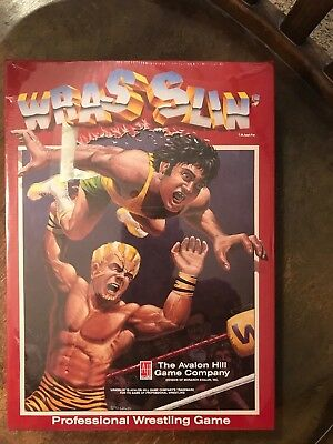 'Wrasslin' Avalon Hill Pro Wrestling Board Game NEW in Shrink Wrap but DAMAGED