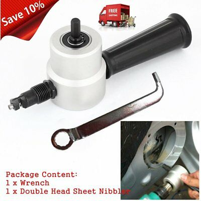 Professional Double Head Metal Sheet Nibbler Saw Cutter Tool For Car Repair IB2
