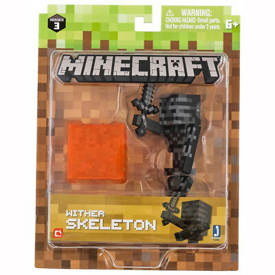Character - Minecraft 3 inch Figure - Wither Skeleton - Brand New