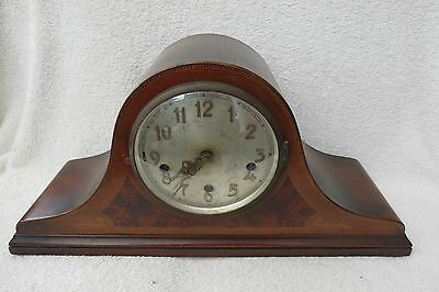 Large Vintage Inlaid Westminster Chime Napoleon Hat Clock For Spares Or Repair