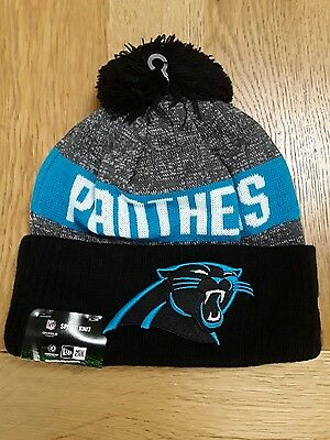 New Era Carolina Panthers 2016 Reverse Team Colour Sport Knit Beanie - One size