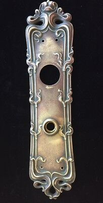 Antique Real Art Nouveau Brass Door Hardware Ornate Knob Back Plate Sargent Co.
