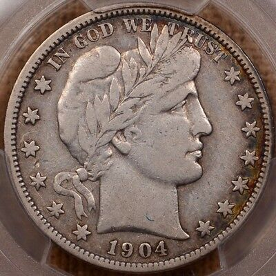 1904-S Key date Barber half, PCGS VF20 CAC, pleasing & tough  DavidKahnRareCoins