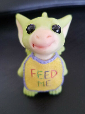 "Whimsical World Of Pocket Dragons ""Feed Me"" Handmade Real Musgrave Rare Unboxed"