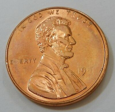 1998 P Lincoln Memorial Cent Obv Grease Filled Die