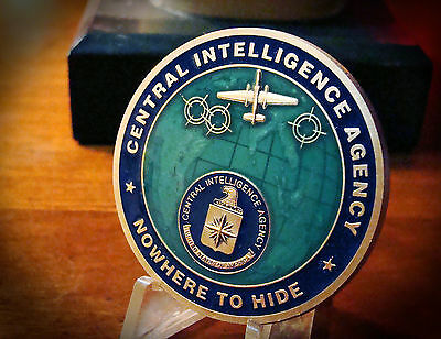 """*  CIA Issued  ~ """" NO WHERE TO HIDE """" ~  Challenge Coin"""