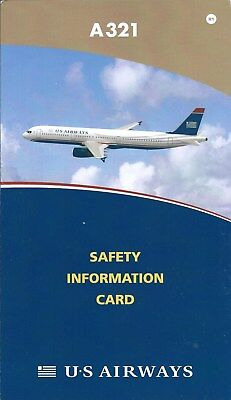 Safety Card - US Airways - A321 - 2008 - Air (S3792)