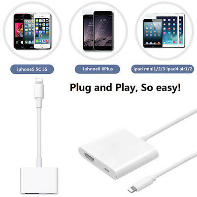 Lightning AV Adapter to HDMI adapter cable for iPhone 5 6 7 plus iPad 3 4 Air