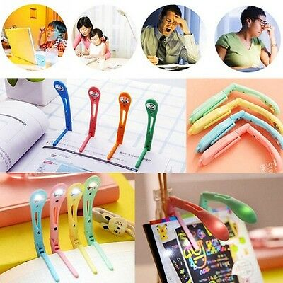 Portable Cute Mini Book Light LED Booklight Travel Reading Lamp Clip-On Folding