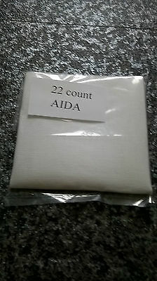 A Piece of White 22 count Aida 8 inches X 6 inches