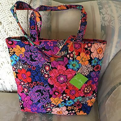 NWT Vera Bradley Tote ~ Floral Fiesta (15821-G15) ~ Perfect for School & Travel!
