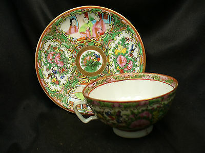 Beautiful Antique Chinese Famille rose Cup and Saucer