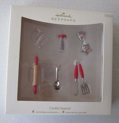 Hallmark 2007 Cookie Season! Miniature Ornament Set/6-Baking Utensils/Measuring